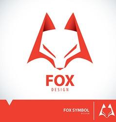 Fox symbol icon vector image