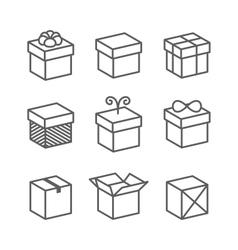 Gift Box Icons Holiday Presents vector image vector image