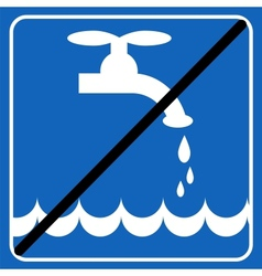 save the water blue sign save the environment vector image