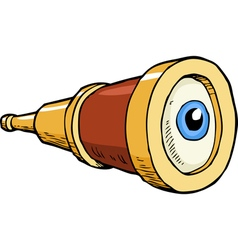 telescope with the eye vector image
