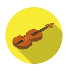 Violin icon in flat style isolated on white vector image