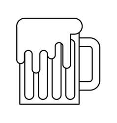 beer mug glass foam alcohol drink vector image
