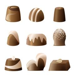 Chocolate bonbon set vector image