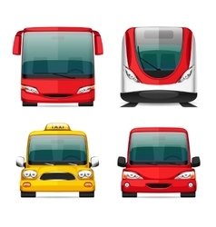 Colorful Transportation Icons vector image