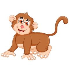 cute monkey cartoon posing vector image vector image