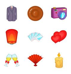 jubilance icons set cartoon style vector image