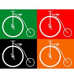 old bike vector image vector image
