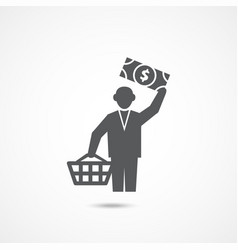 buyer icon on white vector image
