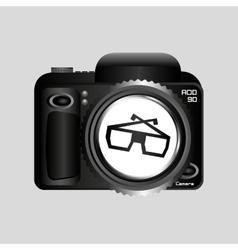Digital photo camera glasses 3d vector