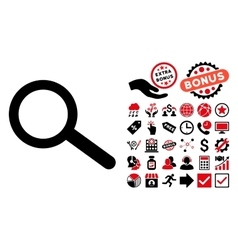 Find Flat Icon with Bonus vector image vector image