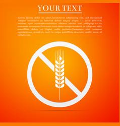 gluten free grain icon isolated no wheat sign vector image