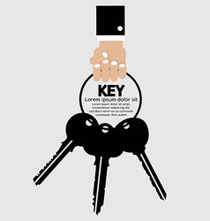 Hand Holding Key Bunch vector image