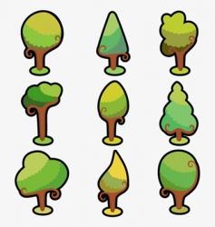 ornamental tree vector image vector image
