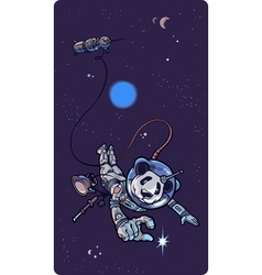 Panda the Astronaut vector image