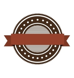red and brown seal stamp vector image