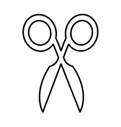 Sewing scissors isolated icon vector image