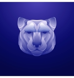 Vintage tiger label Retro design graphic vector image