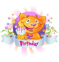 Birthday greetings vector image vector image