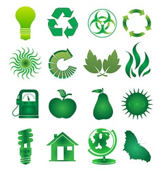Go green icons set vector image vector image