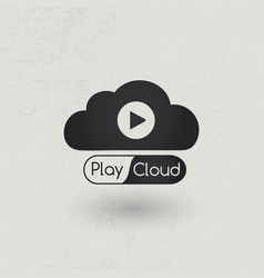 multimedia cloud vector image