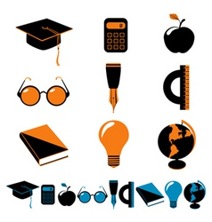 set of education vector image