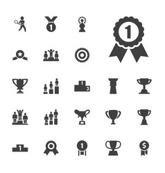 22 trophy icons vector