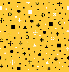 abstract geometric figures seamless pattern vector image