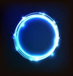 Abstract glowing blue background with circles vector image