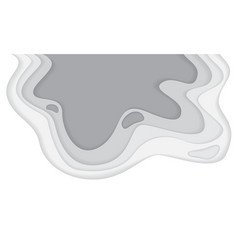 abstract white grey tone paper cut wave curve vector image
