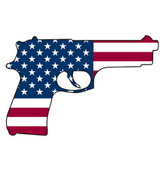 American flag gun automatic pistol handgun vector