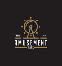 Amusement park logo design inspiration vector