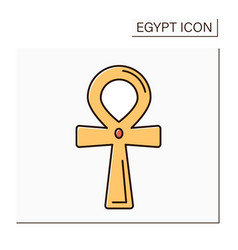 Ankh color icon vector
