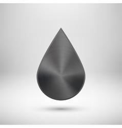Black Abstract Metallic Badge Template vector