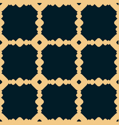black and yellow geometric seamless pattern vector image