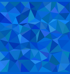 Blue abstract triangle tiled background - polygon vector