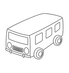Blue bus for the transportation of a small number vector