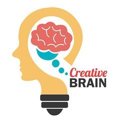 Brain design vector