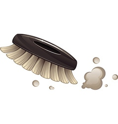 Brush cleaning dust vector image