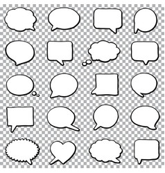 bubble speech set vector image