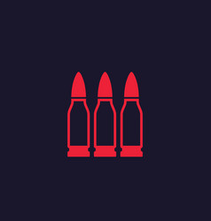 Bullets ammo icon vector
