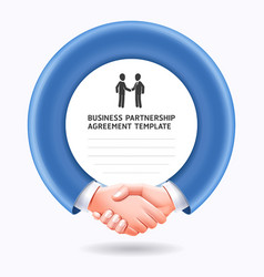 business people handshake template background vector image