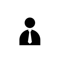 businessman icon design template isolated vector image