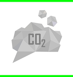 Co2 grey cloud vector