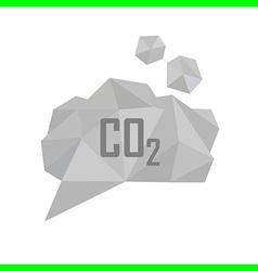 co2 grey cloud vector image