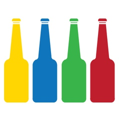 colored glass bottle set vector image