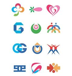 Company symbols icons vector image