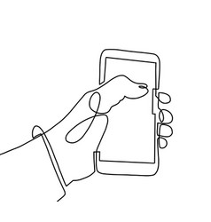 Continuous one line art drawing hand using vector