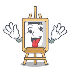 crazy easel mascot cartoon style vector image