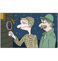 detective and his colleague vector image