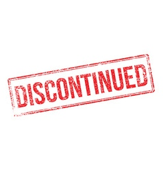 Discontinued red rubber stamp on white vector image vector image